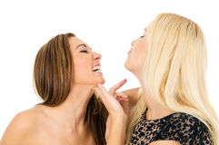 Rivalry of two beautiful girls Royalty Free Stock Photos