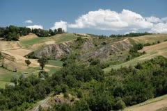 Rivalta di Lesignano Parma, Italia: paesaggio di estate fotografia stock