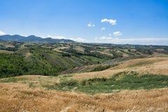 Rivalta di Lesignano Parma, Italia: paesaggio di estate immagine stock libera da diritti