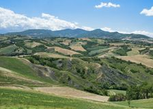 Rivalta di Lesignano Parma, Italia: paesaggio di estate immagine stock