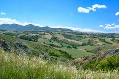 Rivalta di Lesignano Parma, Italia: paesaggio di estate fotografie stock libere da diritti