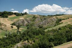 Rivalta di Lesignano Parma, Italien: Sommerlandschaft Stockfoto