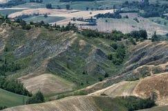 Rivalta di Lesignano Parma, Italien: Sommerlandschaft Lizenzfreie Stockbilder