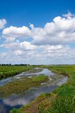 Rivar and sky. Tysmienica river in Tchorzew in Poland Royalty Free Stock Photography