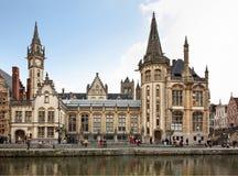 Rive à Gand flanders belgium image stock