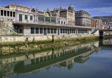 Rive de Bilbao Images libres de droits