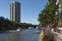 Rive de Chicago Photo stock