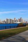 Rive de fleuve de Detroit Images libres de droits