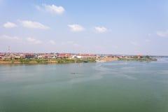 Rive de Kampong Cham, Phnom Penh, Cambodge Images stock