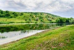 Rive de la rivière de Seversky Donets Photos libres de droits