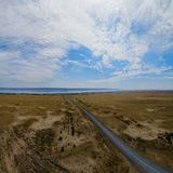 Rive del lago Zaisan fotografia stock libera da diritti