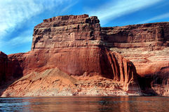Rive dell'Arizona del lago Powell Fotografia Stock