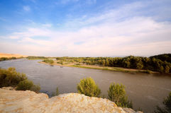 Rive at Xinjiang desert,Western China Royalty Free Stock Photo
