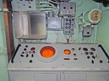 Rivelatore di cortocircuiti di USS: Stazione del sonar immagine stock