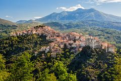 Rivello village Stock Images