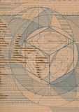 riven draftcardboard Arkivbild