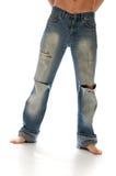 riven jeans Arkivbilder