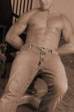 riven jeans arkivfoton
