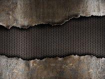 riven sönder bakgrundshålmetall royaltyfri bild