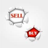 Riven sönder försäljning och buy Arkivfoton