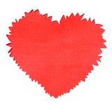 Riven sönder paper formad hålhjärta Royaltyfria Bilder