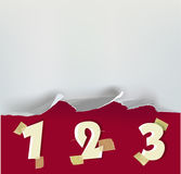 Riven sönder pappers- bakgrund med nummer Royaltyfri Fotografi