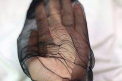 Riven sönder strumpbyxor arkivfoto