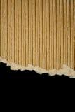 riven sönder svart papp Royaltyfri Foto