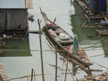 //river łódź na Mekong rzece w Wietnam Zdjęcia Royalty Free