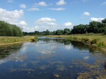 River. At Stanwick Lakes Northamptonshire Stock Photography