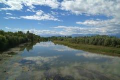 River. Dora Baltea river in Piemonte north Italy Stock Photo