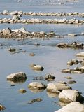 River. Drying Up River. Pollutant Stock Photo