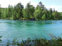 River. The river Rauma flowing in the summertime. Norway royalty free stock photo