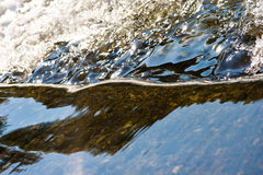 River. Watter, reflections, flow, beauty Royalty Free Stock Images