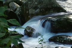 River. A small cascadeing river in the Royalty Free Stock Photos