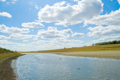 River. Flow like water be covered with clouds Royalty Free Stock Photo