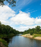 On The River. Beautiful view of a river and sky Stock Photography
