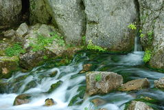 River. Peaceful, extended exposure photo of a mountain river Royalty Free Stock Images