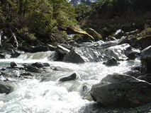 River. A mountain river flowing down from the glacier Royalty Free Stock Images