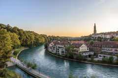 River Aar, Bern, Switzerland Stock Image