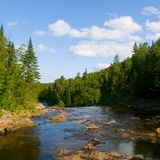River Above Falls Royalty Free Stock Images
