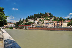 River Adige banks in Verona, Italy Royalty Free Stock Photography