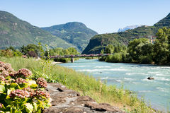 River Adige in Bolzano Royalty Free Stock Photography