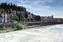 River adige crosses verona Stock Images
