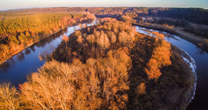 River aerial view Royalty Free Stock Images