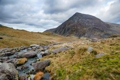 Afon Idwal in Snowdonia Royalty Free Stock Photo