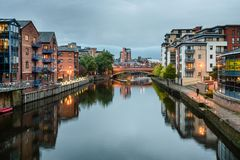 River Aire, Leeds, West Yorkshire, England, UK Stock Photo