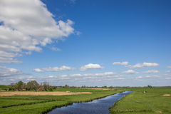River along the dollard route in Ostfriesland Royalty Free Stock Photography