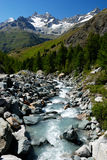 river in alpes mountain Royalty Free Stock Images