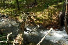 River amongst stone in valley mountains Stock Image